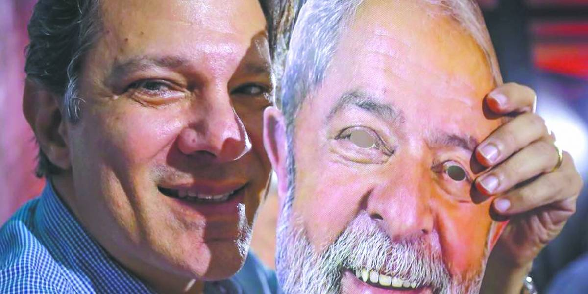 Lula indica Fernando Haddad para ser o seu vice