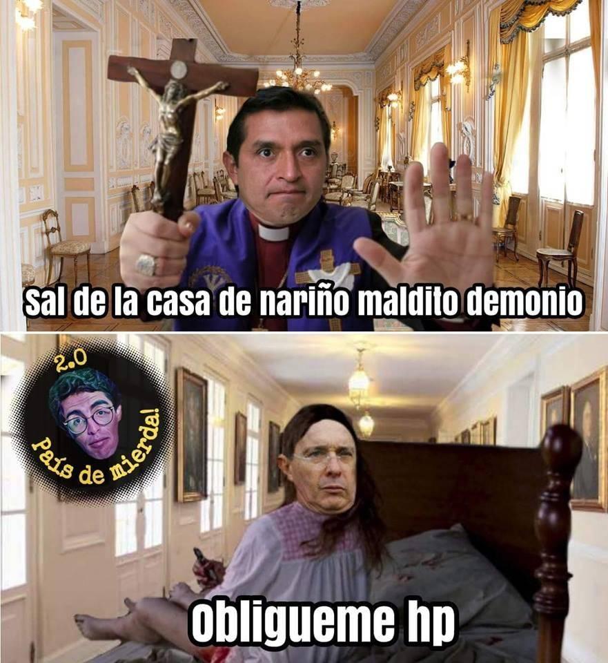 Un posible exorcismo en la casa del presidente de Colombia llenó las redes sociales de memes