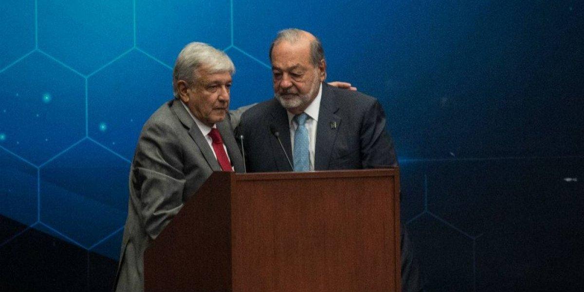 Anuncia López Obrador retiro de Carlos Slim durante este sexenio