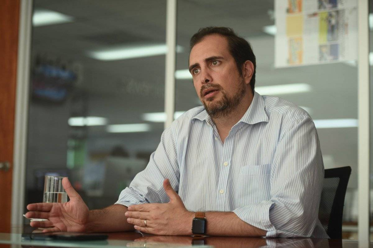 Andrés Dávila, gerente de Comunicaciones de Minera San Rafael Foto: Edwin Bercián