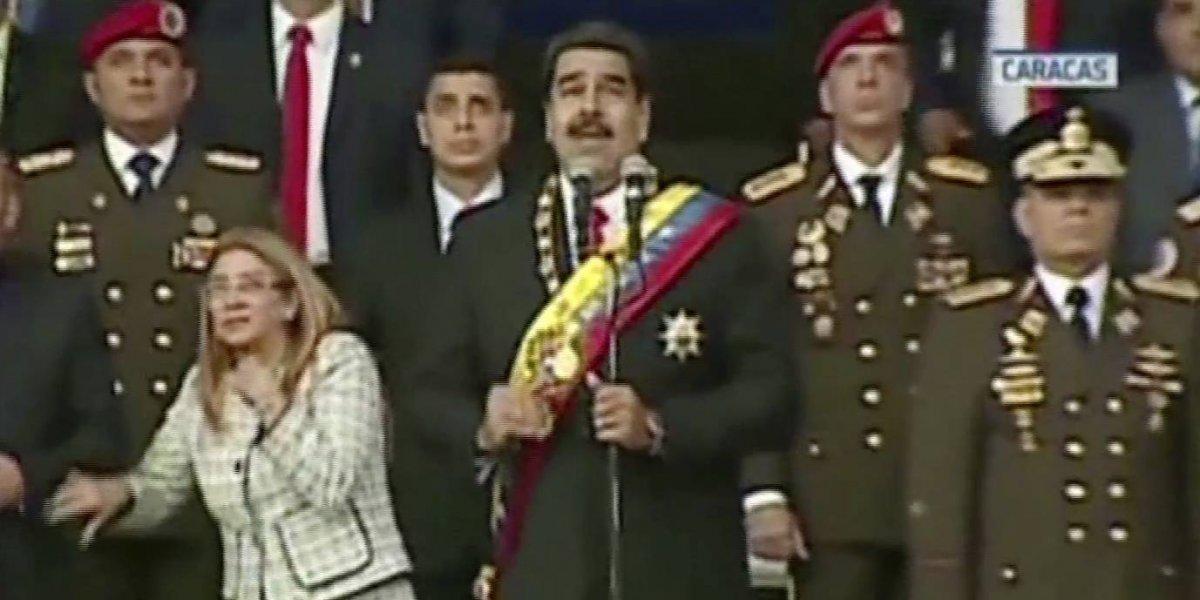 """Momento exacto que explota dron en presunto """"atentado"""" contra Maduro"""