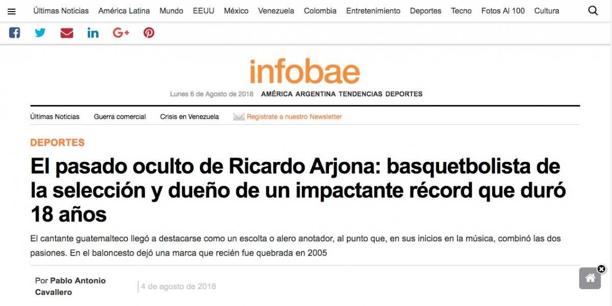 Ricardo Arjona noticia