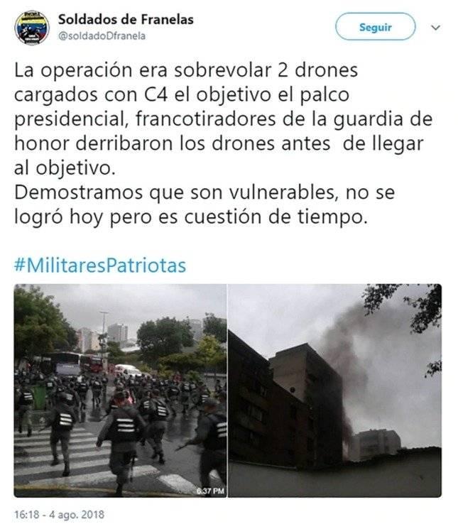 atentado Nicolás Maduro dron