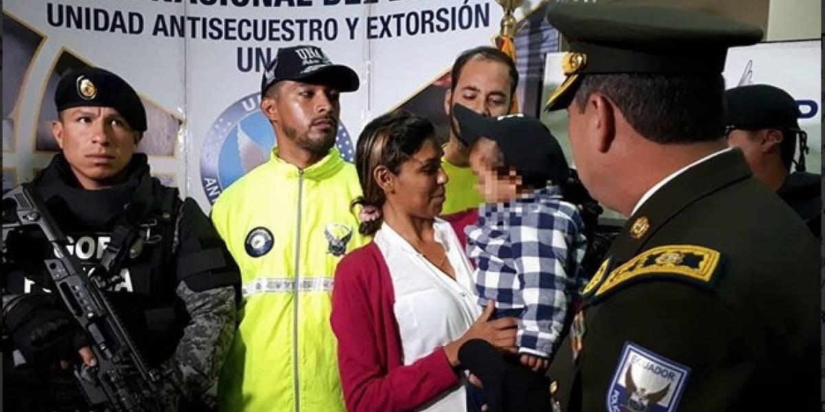 Niño venezolano hallado en Cuenca fue secuestrado por ecuatoriana