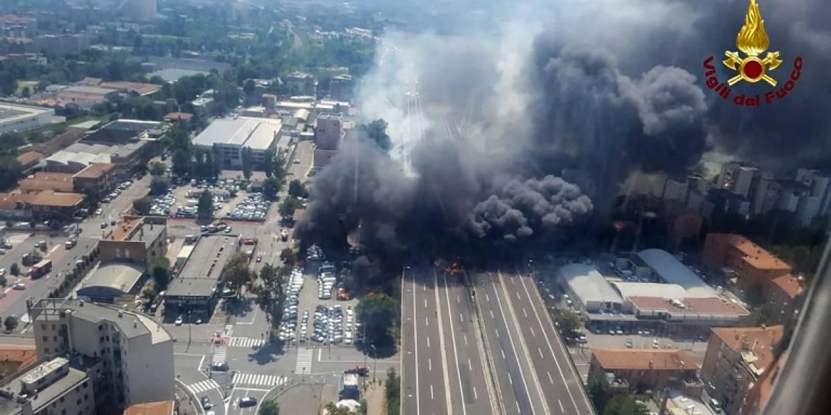 VIDEO. Fuerte explosión cerca de aeropuerto italiano deja varios heridos