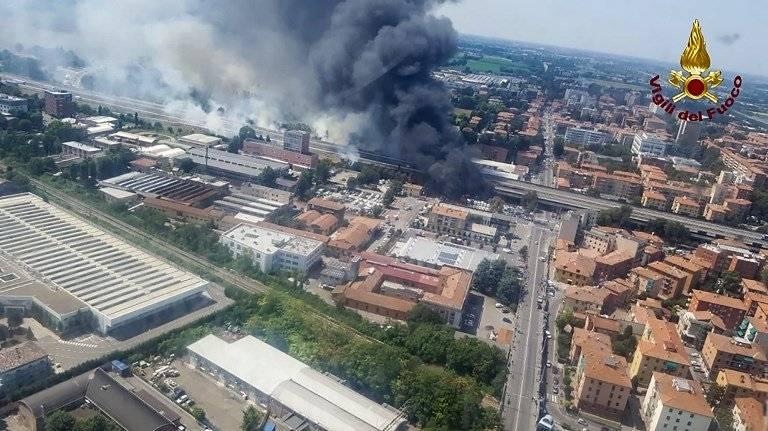 Explosión cerca de aeropuerto de Bolonia