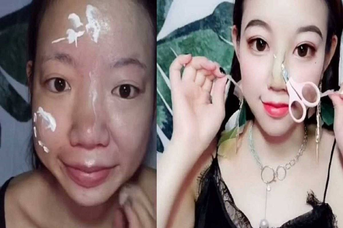mujer maquillaje transformacion
