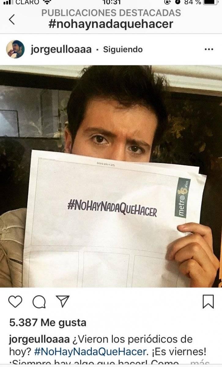Portadas de Metro con el hashtag #NoHayNadaQueHacer Captura de pantalla