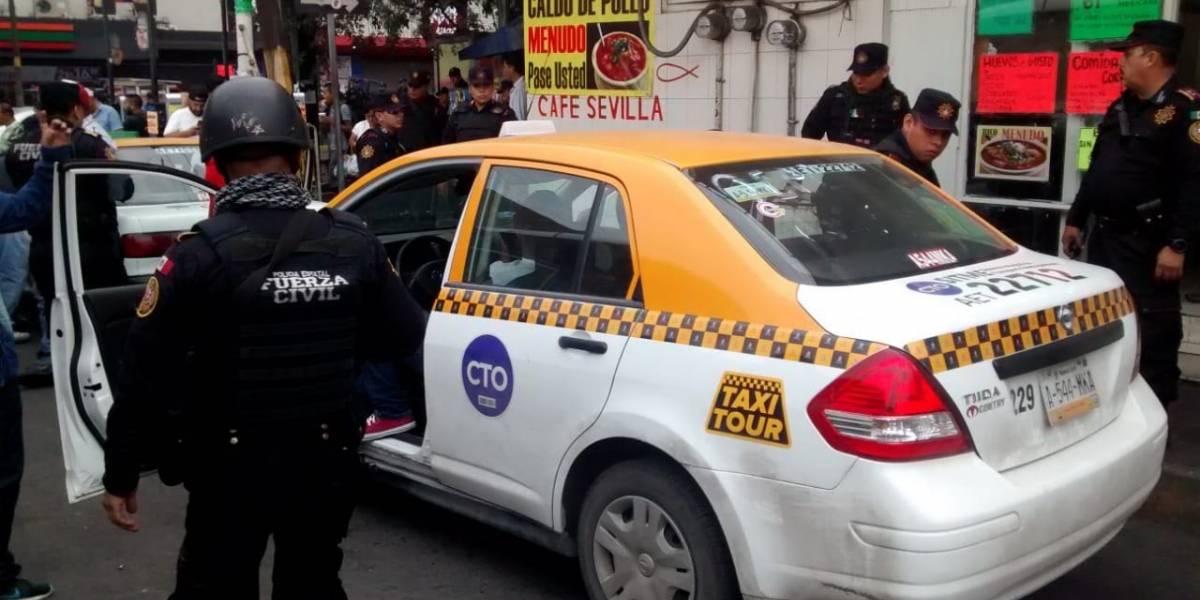 Protesta de taxistas deja al menos ocho detenidos en Monterrey