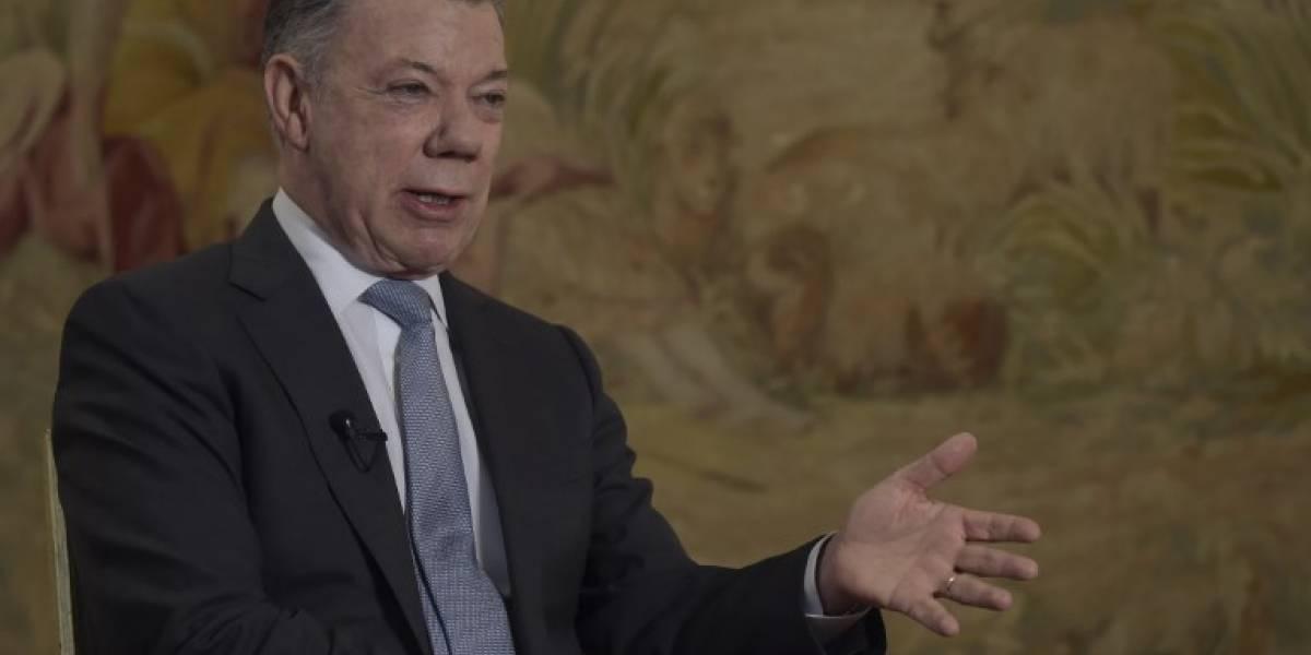 Santos responde a acusación de Maduro que lo involucra en atentado