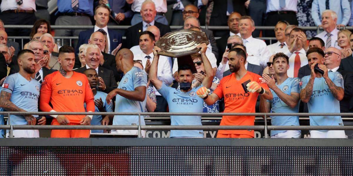 Con 2 de Agüero, Man City conquista el Community Shield