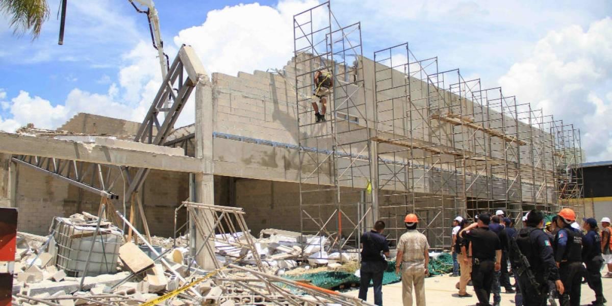 Derrumbe en Puerto Morelos, Quintana Roo, deja un muerto y 14 lesionados