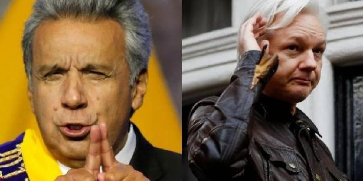 Assange trató de convertir a la embajada de Ecuador en un centro de espionaje, según presidente Lenin Moreno