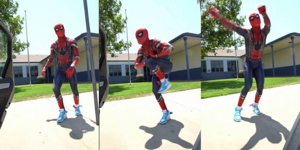 Spider-Man hizo el #KikiChallenge o #InMyFeelingsChallenge para vencer a Thanos... pero fracasó