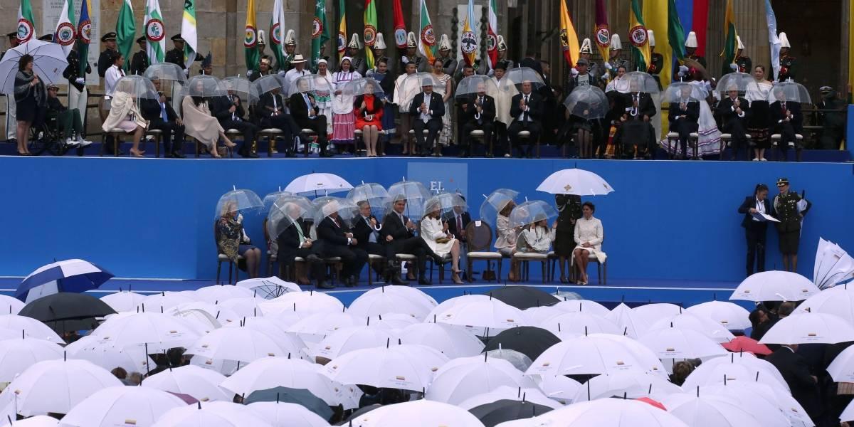 Colombia: Fuerte viento y lluvia durante la posesión de Iván Duque