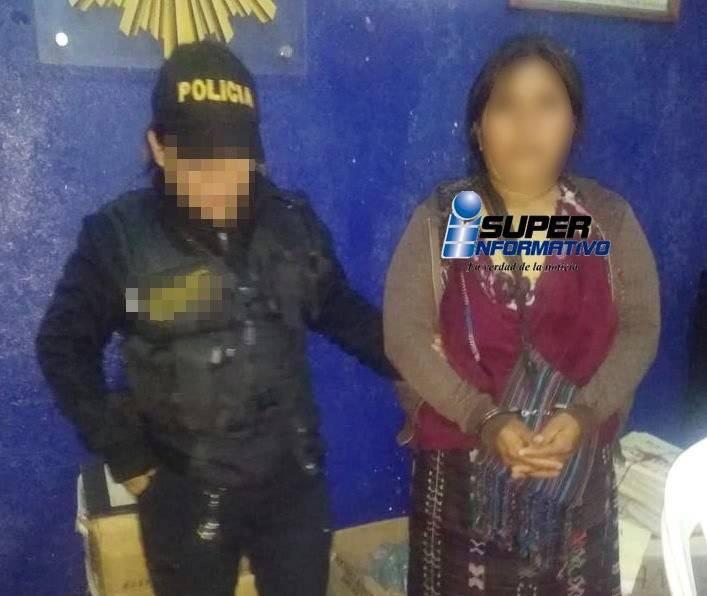 capturada por matar a su esposo en Huehuetenango