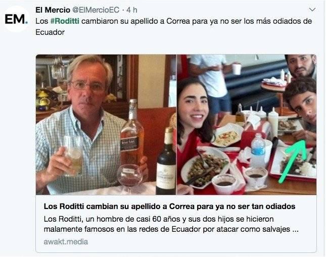 Páginas de humor también se manifestaron sobre la agresión a los guardias de seguridad y publicaron fotografías de la familia involucrada Twitter