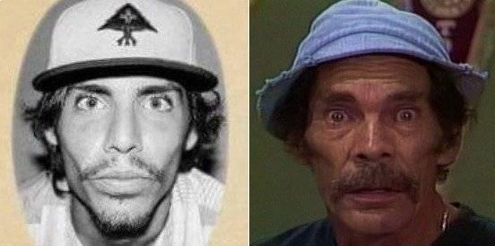 Uno de los agresores a los guardias de seguridad fue comparado con el personaje de Don Ramón