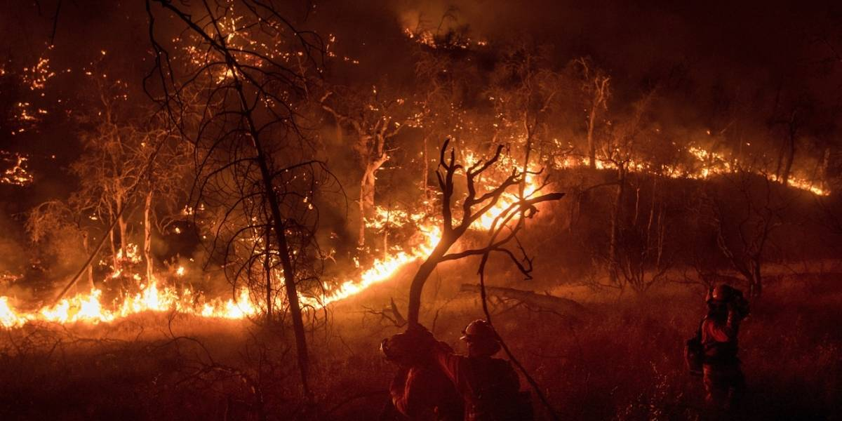 El mayor incendio de California: la imagen de la Nasa que muestra la magnitud de los siniestros desde el espacio