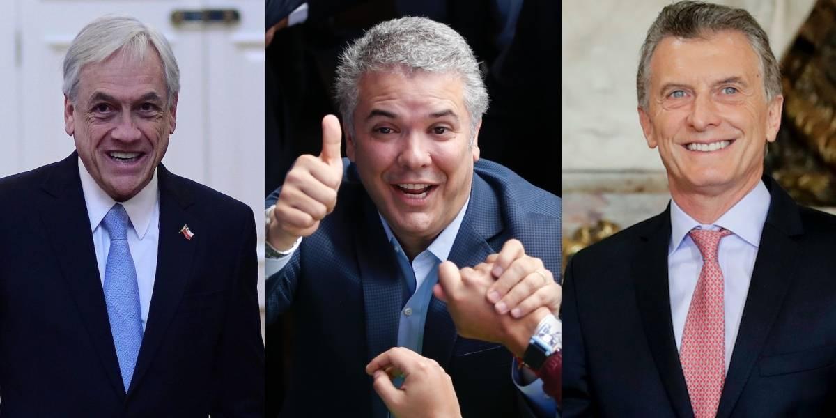 """Con Piñera y Macri abriendo la lista: la """"cumbre"""" de líderes de derecha que marca el cambio de mando en Colombia"""
