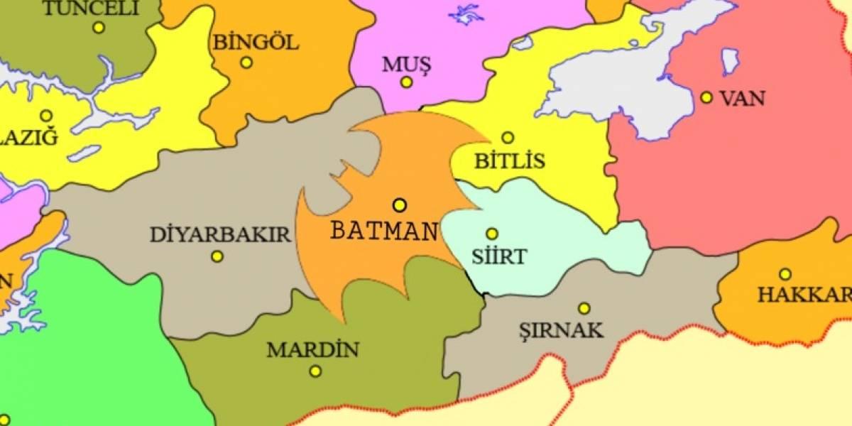 """""""Podemos hacerlo más realista"""": extraña petición busca que provincia turca de Batman sea como el logotipo del superhéroe"""