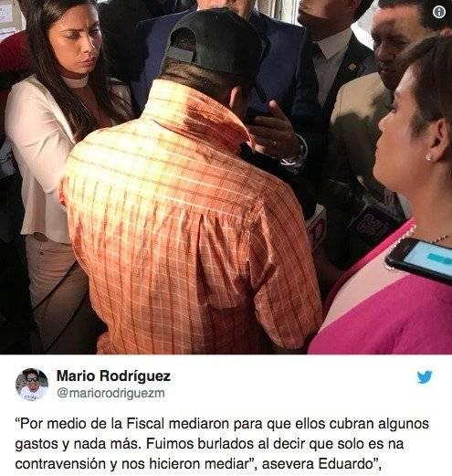 el periodista Mario Rodríguez compartió imágenes de las declaraciones de los guardias