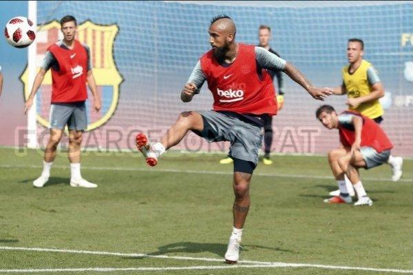 Vidal está al cien / imagen: sitio web Barcelona