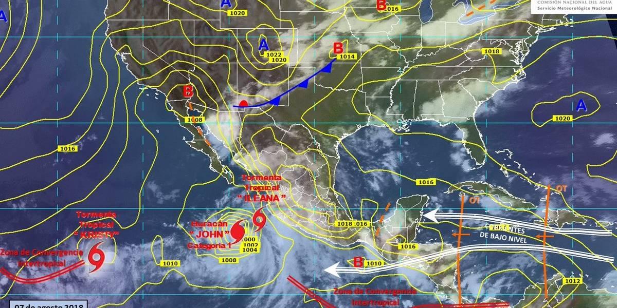 Depresión tropical se fortalece en tormenta tropical 'Kristy'