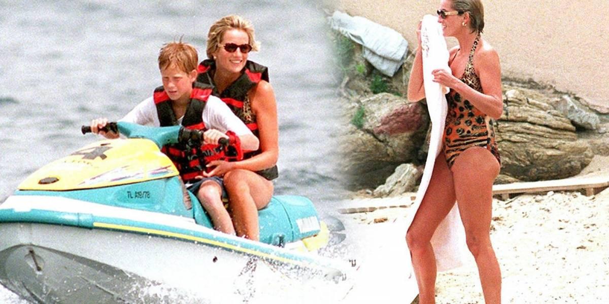 Las últimas fotos que se tomó Diana con el Príncipe Harry un mes antes de morir