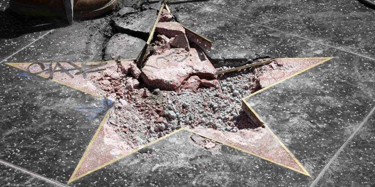Aprueban retirar estrella de Trump del Paseo de la Fama de Hollywood