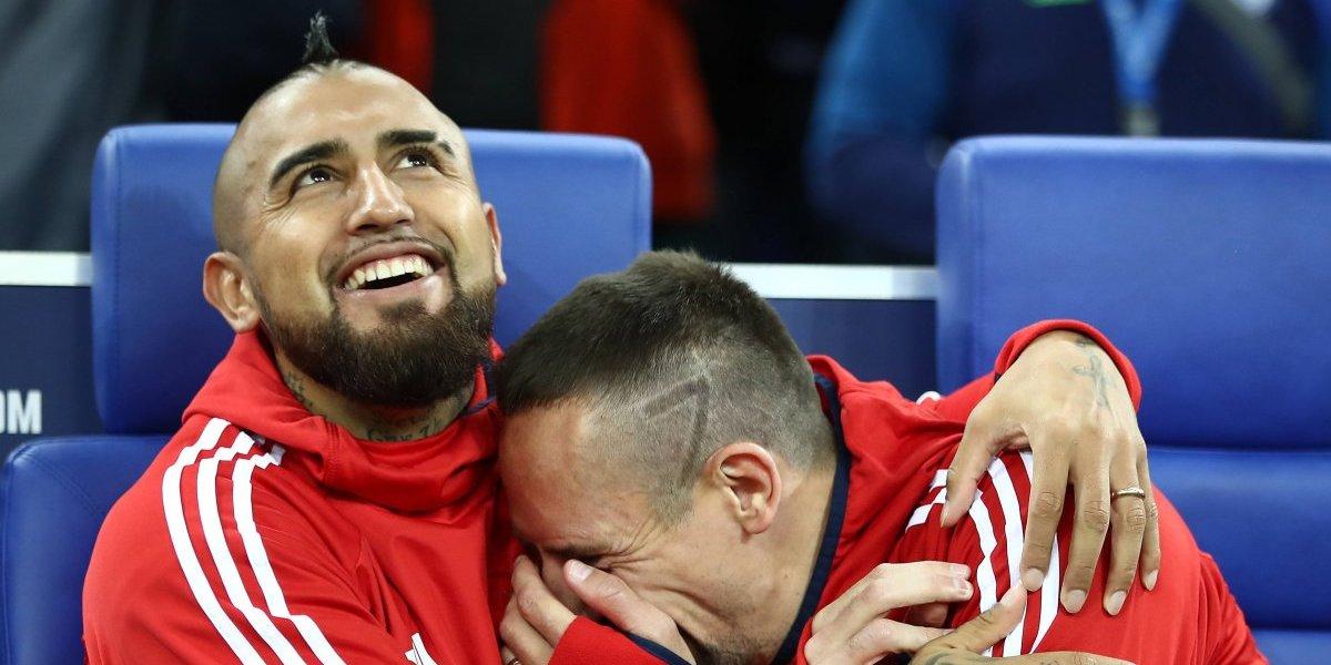 """Franck Ribery no supera la partida de Arturo Vidal: """"Es una pena"""""""