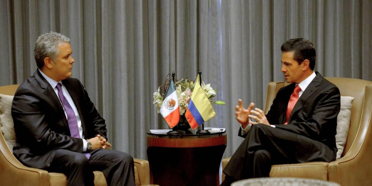Peña Nieto se reúne con el presidente electo de Colombia