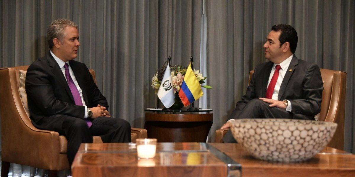 Presidente Jimmy Morales se reúne con su homólogo colombiano, Iván Duque