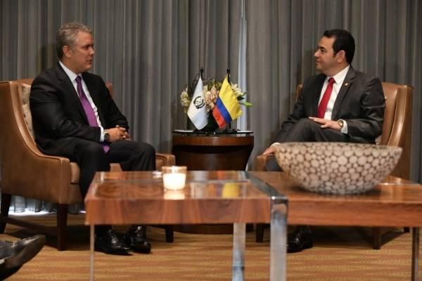 Jimmy Morales reunión con presidente de Colombia