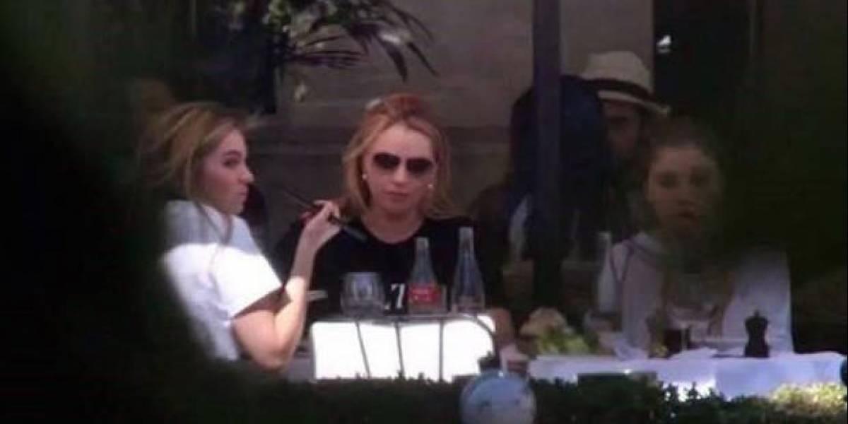 Captan a Angélica Rivera en restaurante de París