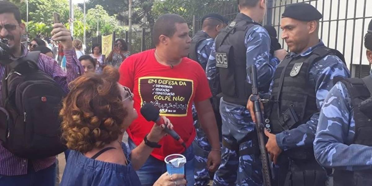 Manifestação de professores em Salvador termina em confronto com guardas civis