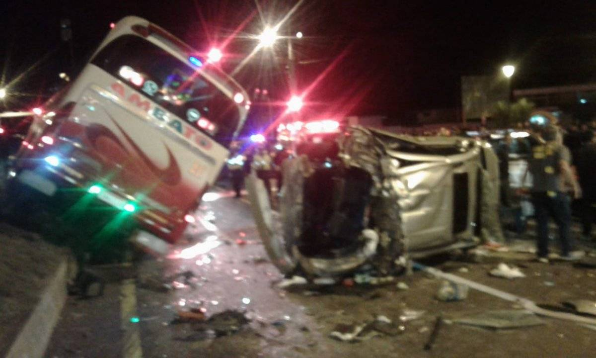 Cortesía Quito: Se registran seis heridos en accidente de tránsito