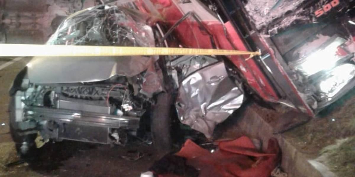Accidente en Machachi: 18 heridos, un bus y seis vehículos afectados por colisión