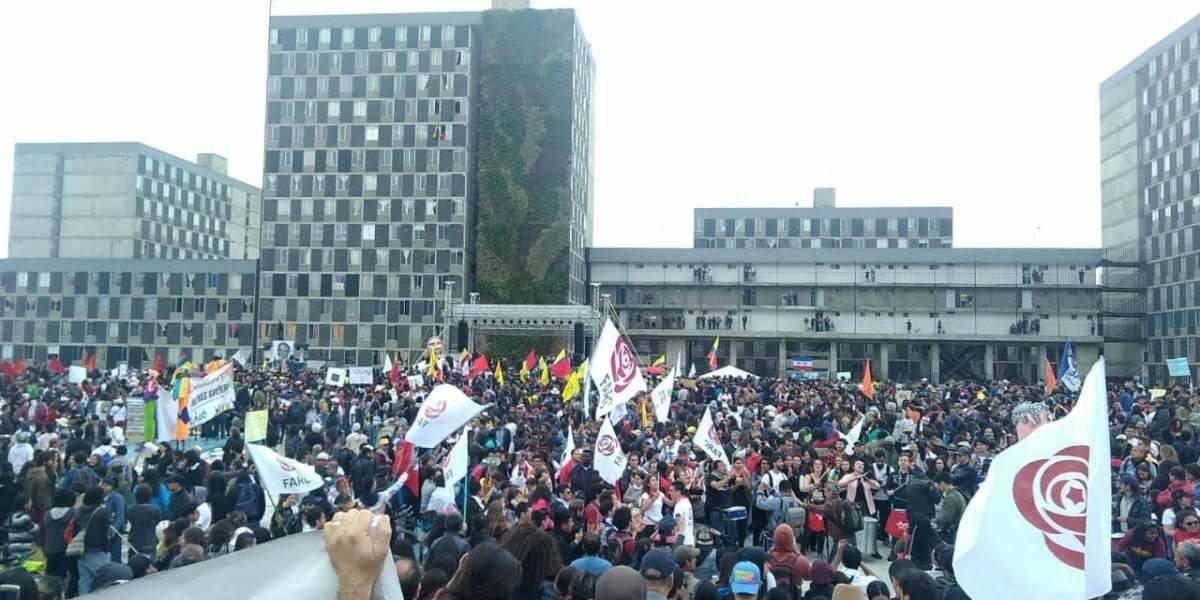 Así transcurrió la concentración por la vida y la paz en Bogotá