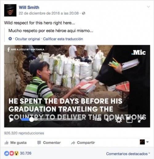 Luis Morán mensaje Will Smith