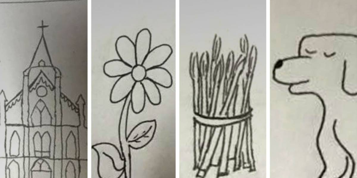 Neto usa desenhos para ajudar avó que não sabe ler a achar números de telefone
