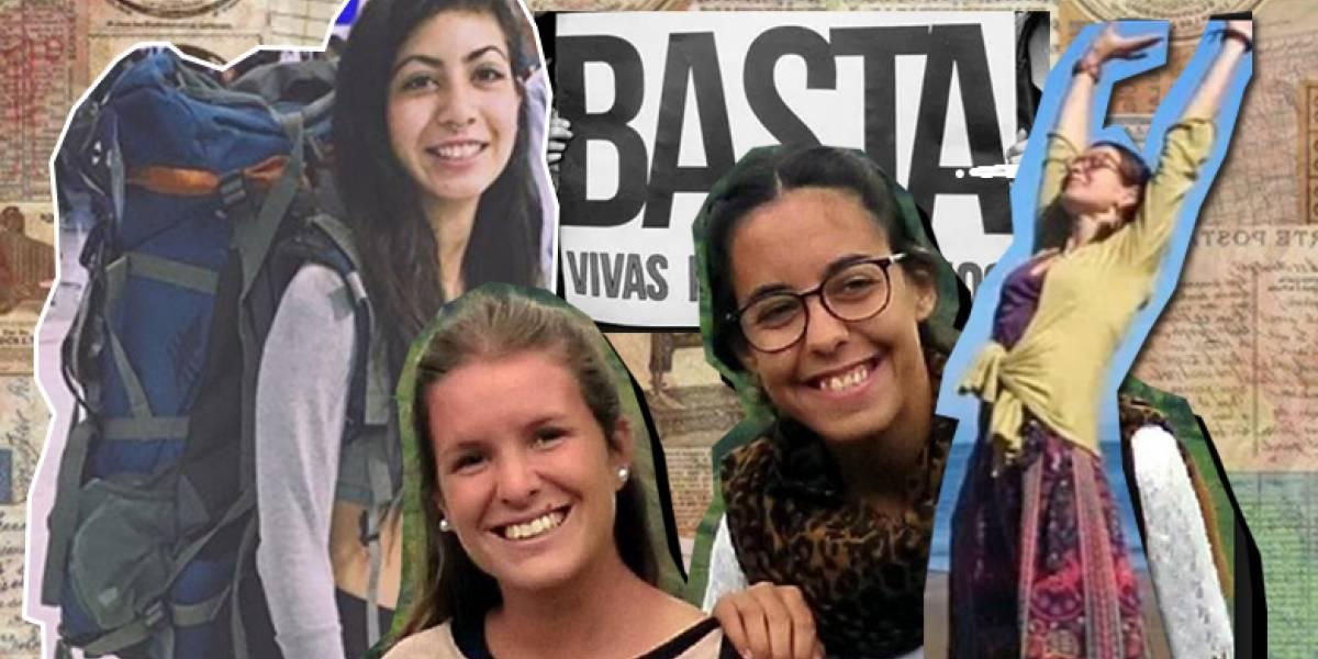 """María José, Marina y Mar soñaron con recorrer el mundo: Las historias de las mujeres que mataron """"por viajar solas"""""""