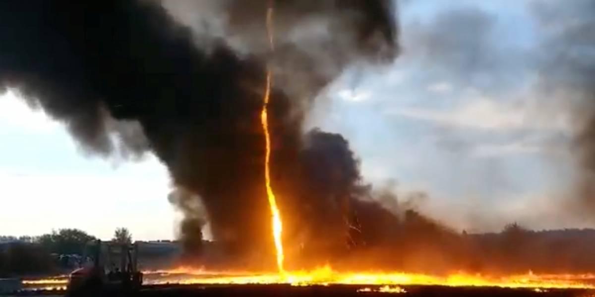 As imagens assustadoras do tornado de fogo na Inglaterra