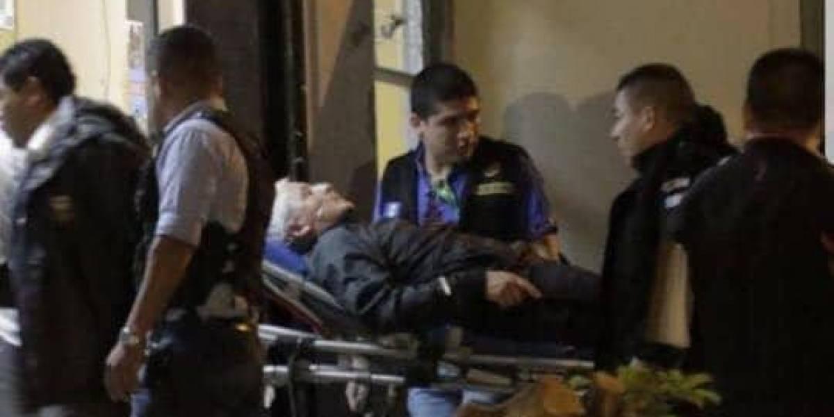 Otto Pérez recibe atención médica en el hospital Roosevelt por problema cardiaco