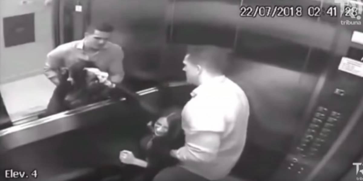 Cámaras de seguridad captan agresión de un hombre a su pareja
