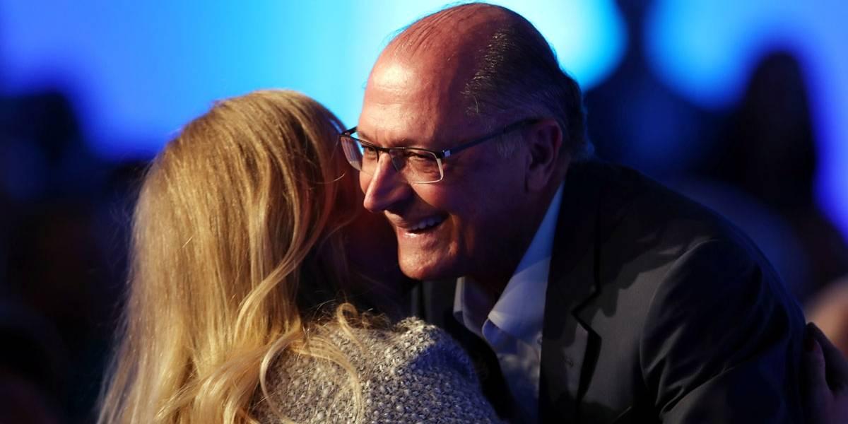 Alckmin confunde Angélica com Eliana e mulher de Huck se diverte