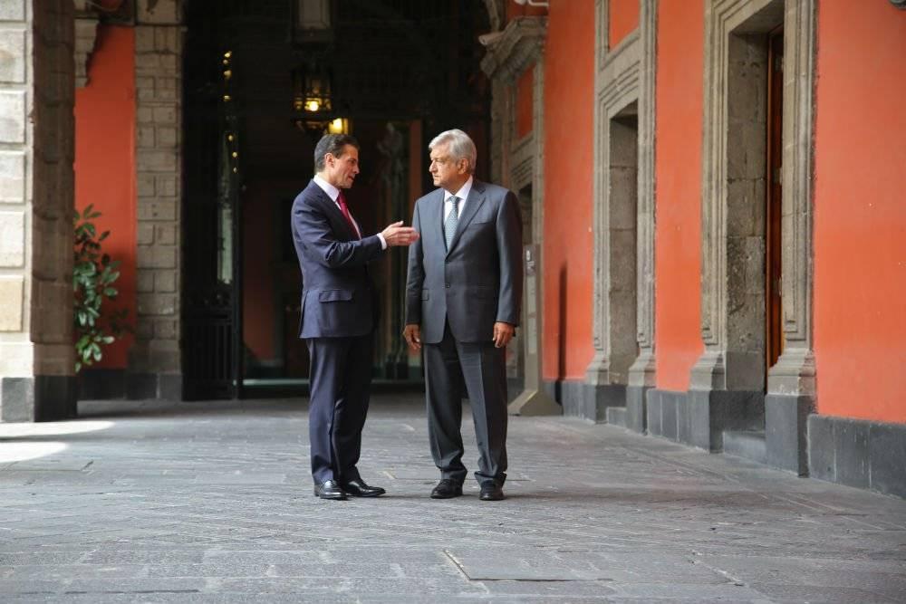 Su primer encuentro tras el 1 de julio se dio en Palacio Nacional Foto: Cuartoscuro