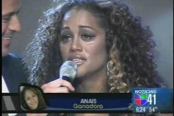 """Anaís Martínez, ganadora de la segunda edición de """"Objetivo Fama"""". Foto: pantallazo YouTube"""