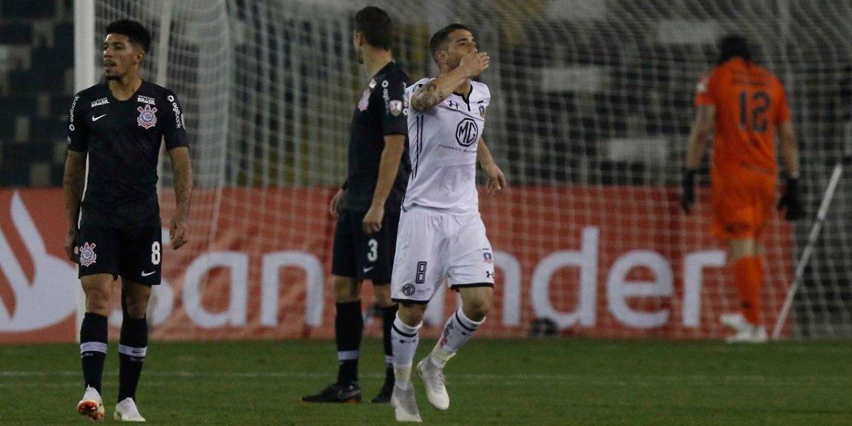 En el mejor momento: Carlos Carmona marcó su primer gol en Colo Colo ante Corinthians