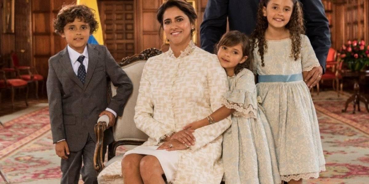 El 'aseñorado' vestido que usó la esposa de Iván Duque para ver al Papa
